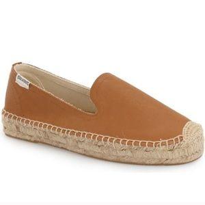 Soludos Tan Leather Espadrilles- Size 10